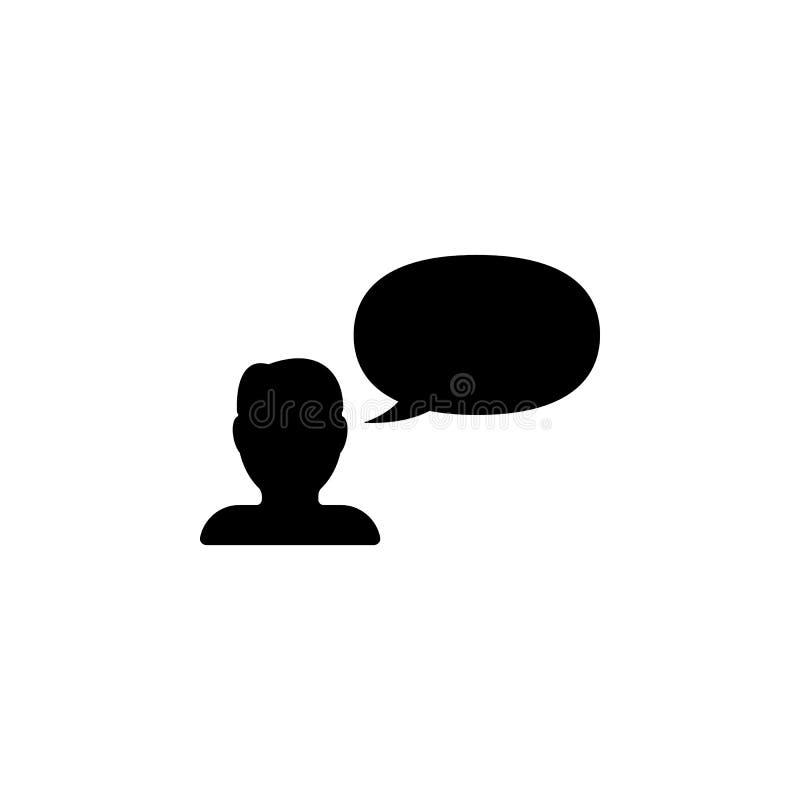 человек говорит значок Элемент minimalistic значка для передвижных apps концепции и сети Знаки и значок собрания символов для web иллюстрация вектора