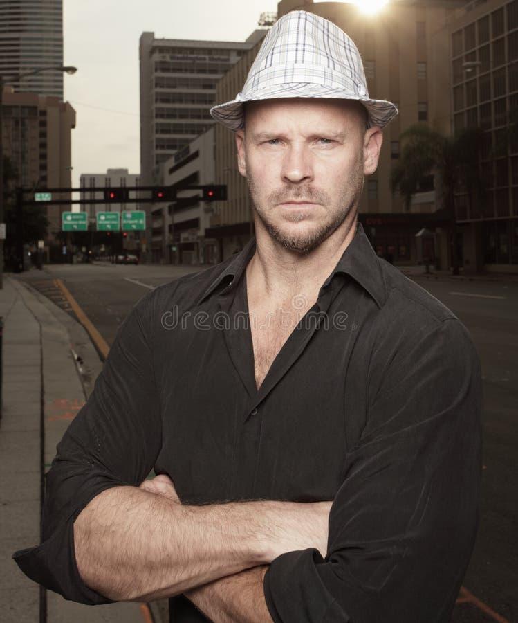 человек города стоковое фото rf