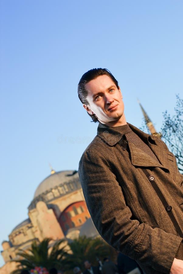 человек города стоковая фотография