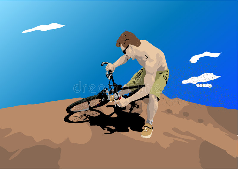 человек грязи bike бесплатная иллюстрация
