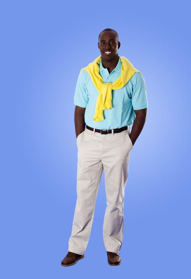 человек дела афроамериканца счастливый стоковое изображение
