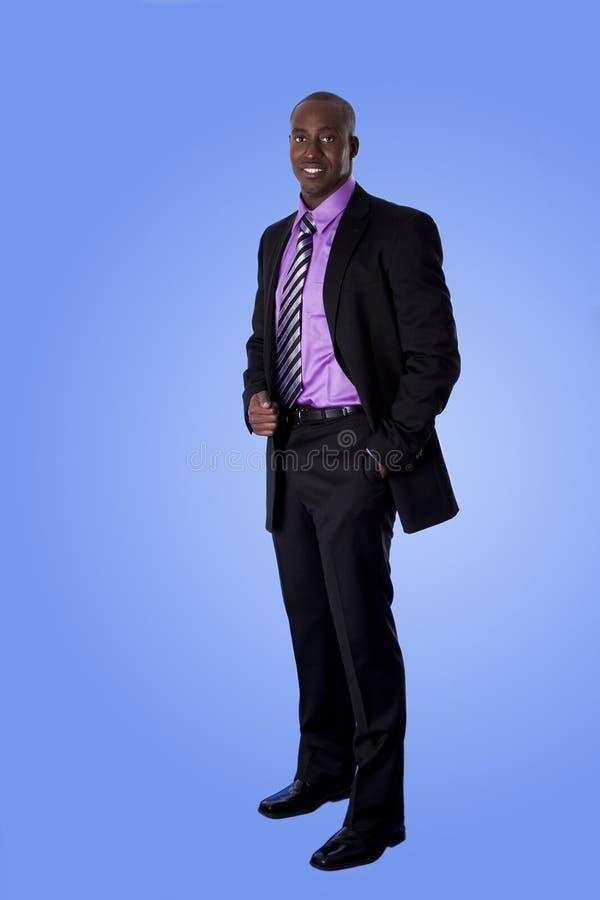 человек дела афроамериканца счастливый стоковые фотографии rf