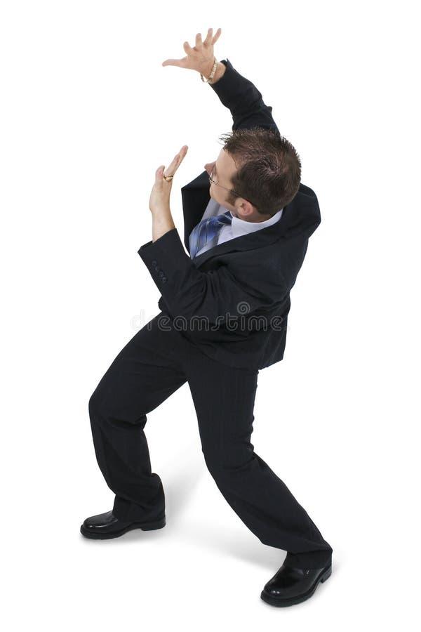 человек дела сжимаясь стоковое изображение rf