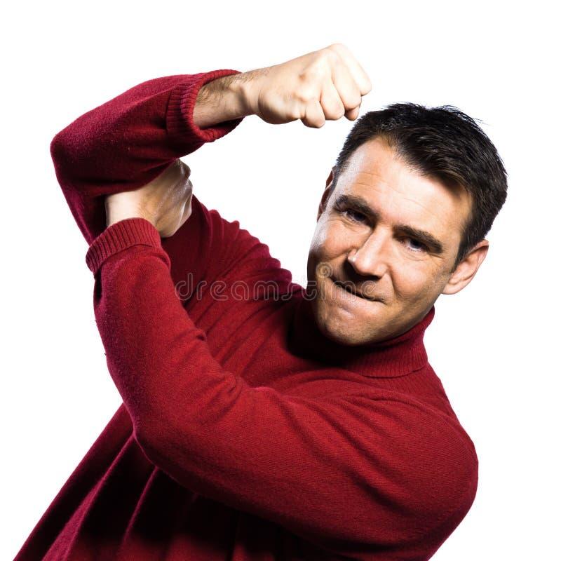 человек жеста бой стоковое изображение