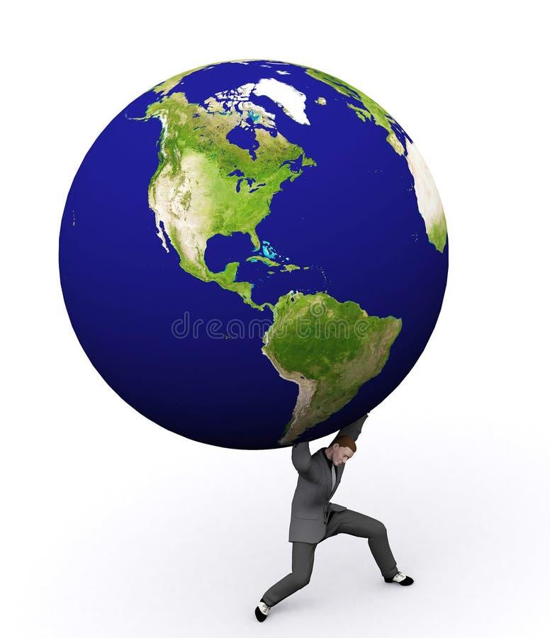 человек земли 3d иллюстрация штока