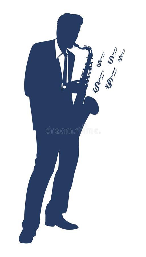 человек играя саксофон бесплатная иллюстрация