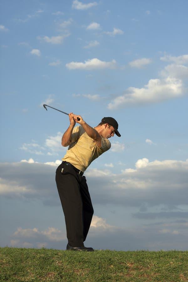 человек игрока в гольф стоковое фото rf