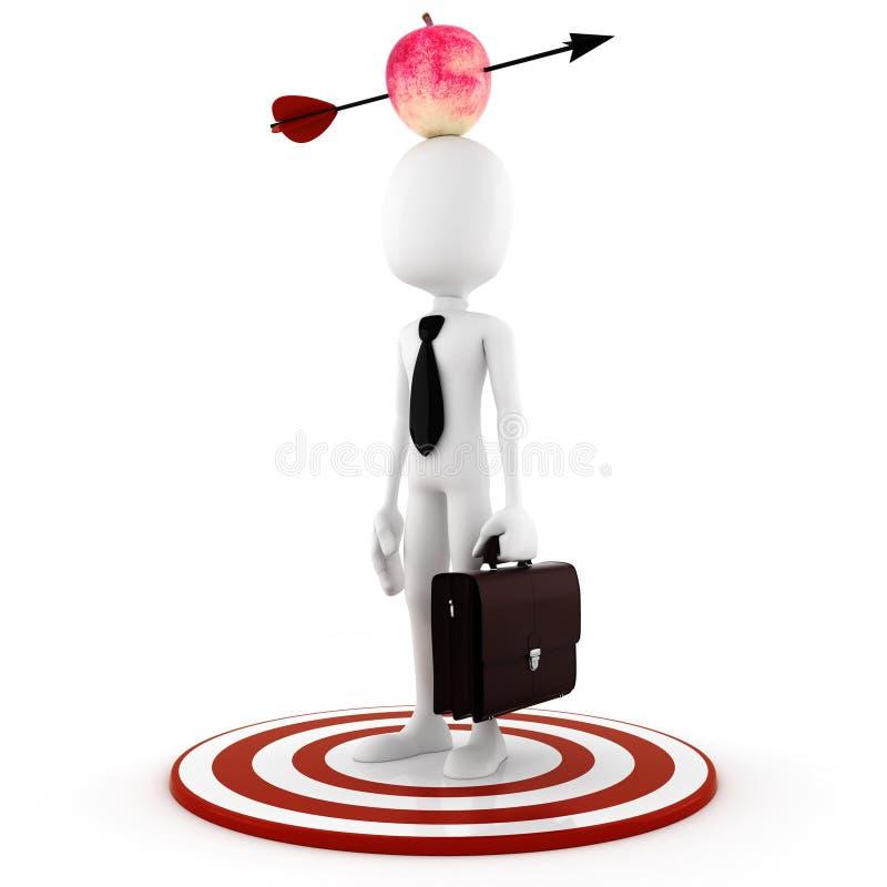 человек изолированный головкой s яблока 3d бесплатная иллюстрация