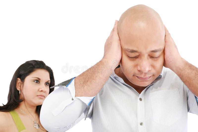 Человек и женщина сердитые стоковое фото rf