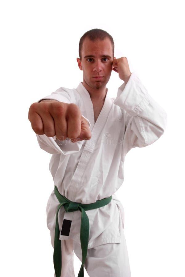 человек карате стоковое изображение rf