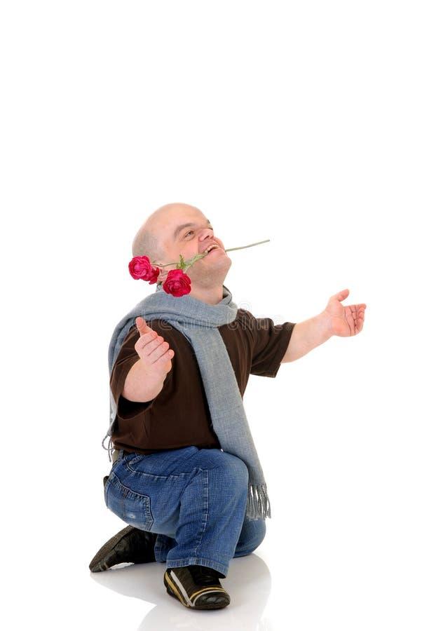 человек карлика маленький поднял стоковые фото
