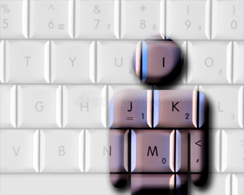 человек компьютера бесплатная иллюстрация