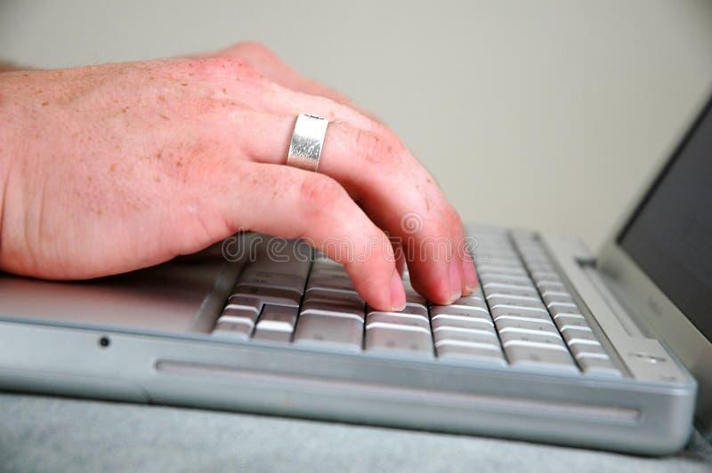 человек компьютера 3 стоковое изображение rf