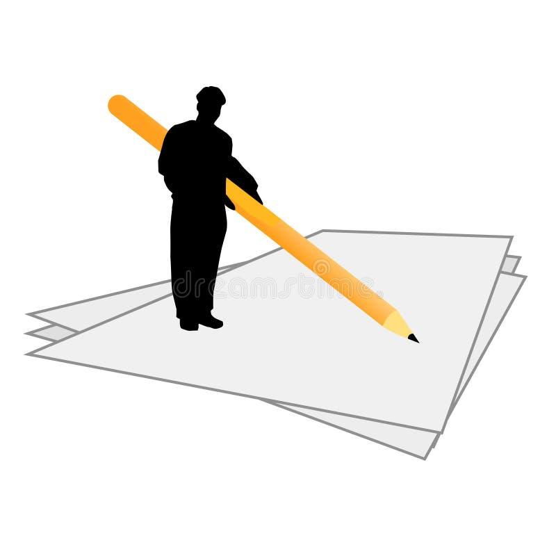 человек конструкции подписывается вектор иллюстрация штока