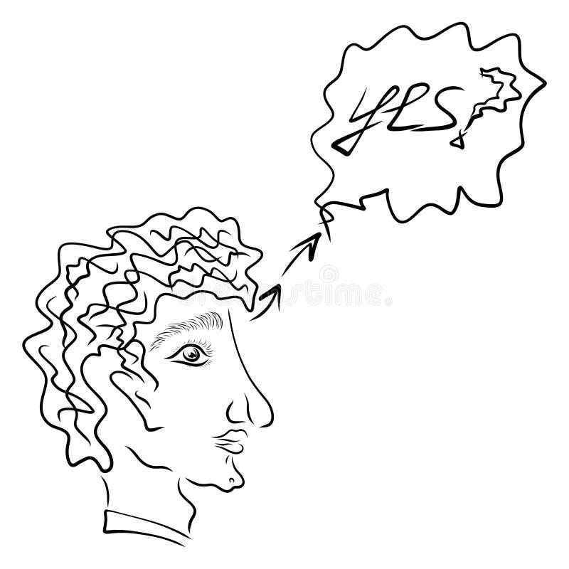 Человек который сомневается или спрашивается вопрос бесплатная иллюстрация