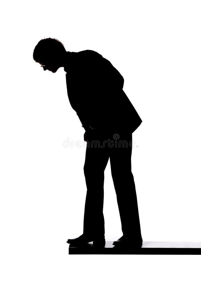 человек края стоковое изображение rf