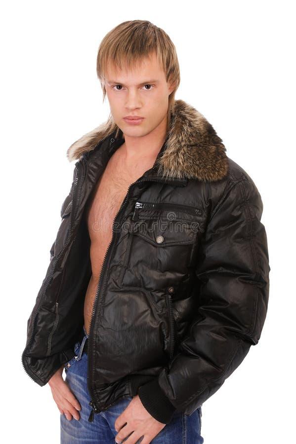 человек куртки кожаный стоковые изображения