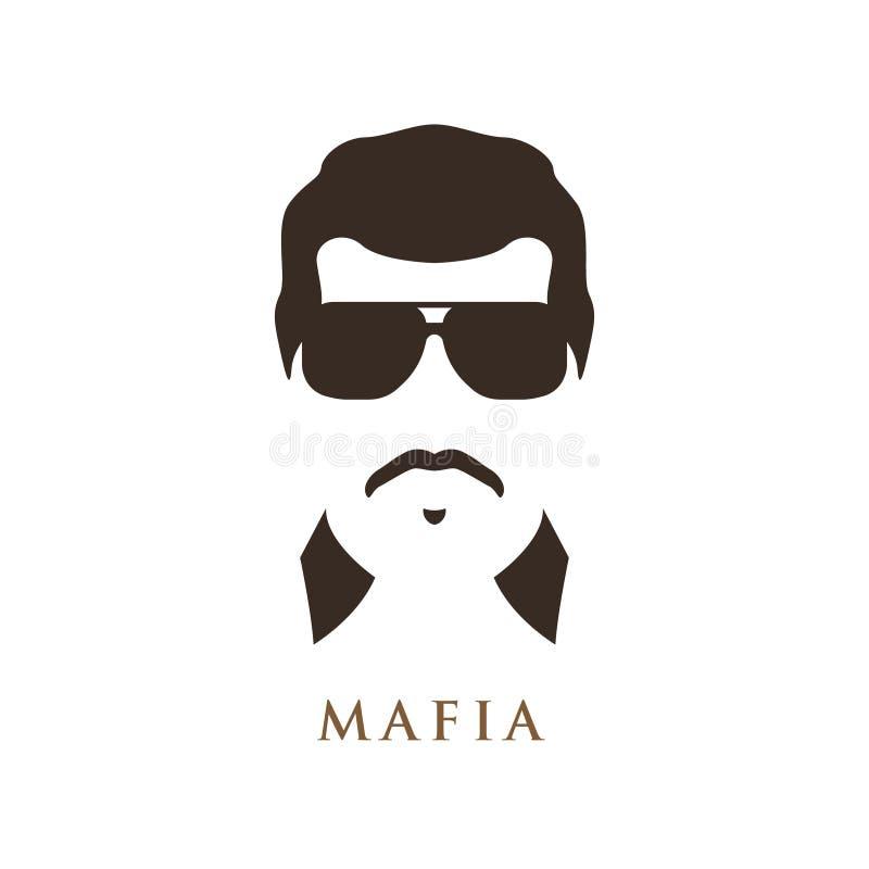 Человек латиноамериканца с усиком, нося темными солнечными очками бесплатная иллюстрация