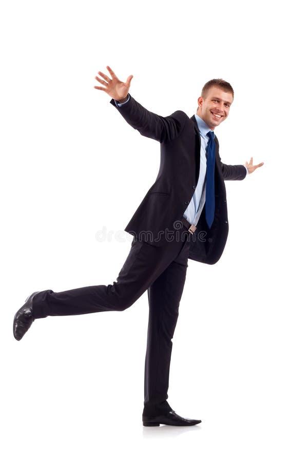 человек летания дела стоковая фотография rf