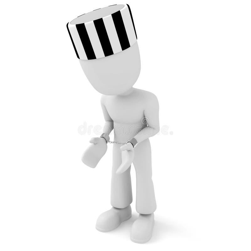человек надеванный наручники 3d бесплатная иллюстрация