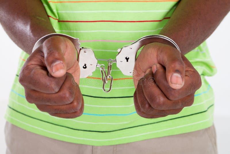 человек наручников стоковое фото rf
