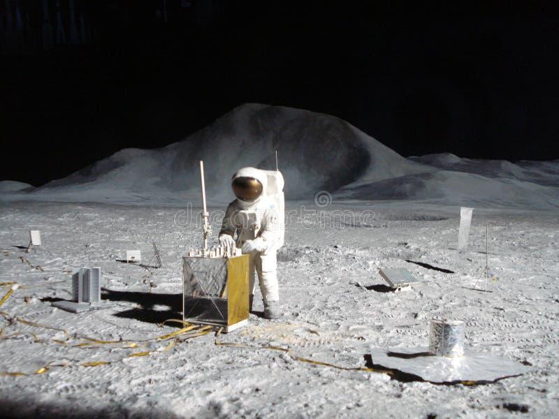 Человек на луне стоковое фото rf