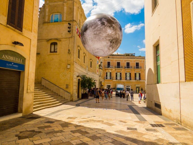 Человек на Луну стоковое изображение
