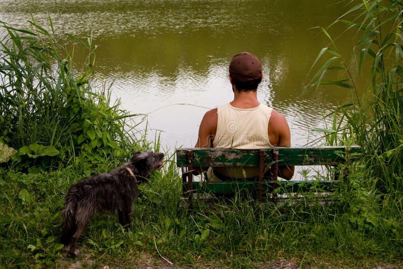человек озера стоковые фотографии rf