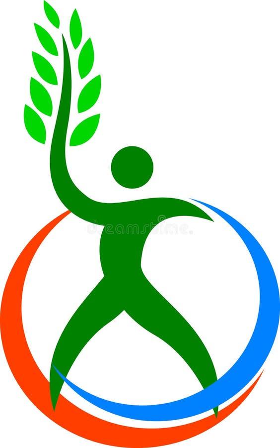 Человек окружающей среды содружественный иллюстрация вектора