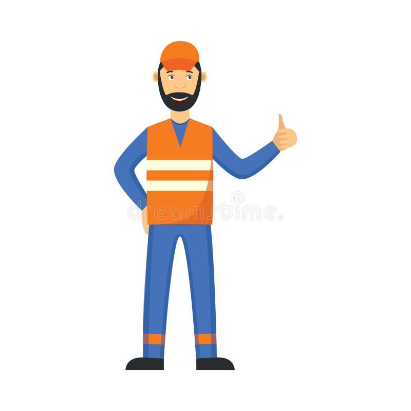 Человек отброса вектора в равномерных больших пальцах руки вверх иллюстрация вектора