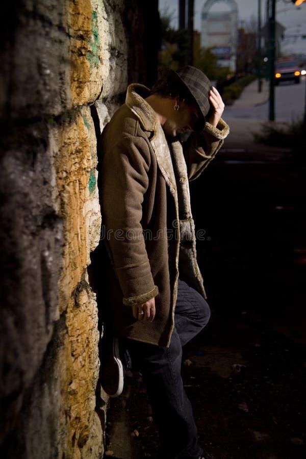 человек переулка стоковое фото