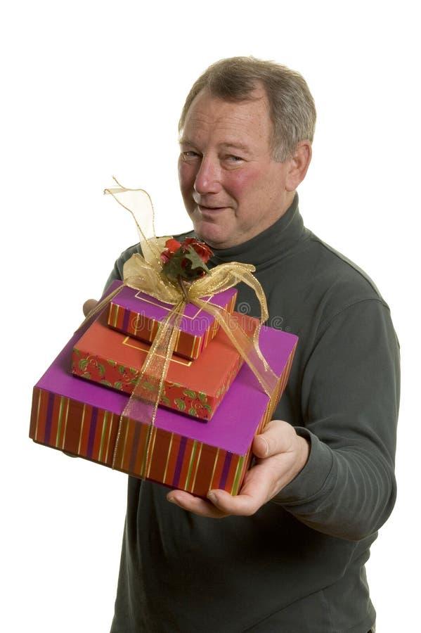 человек подарков стоковое фото