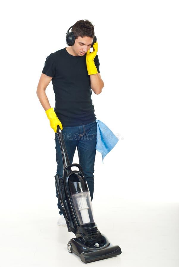человек пола чистки стоковые фотографии rf