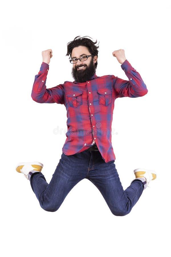 Человек празднует победу стоковые фотографии rf