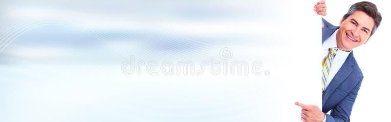 Человек представляя космос для сообщения стоковые фото