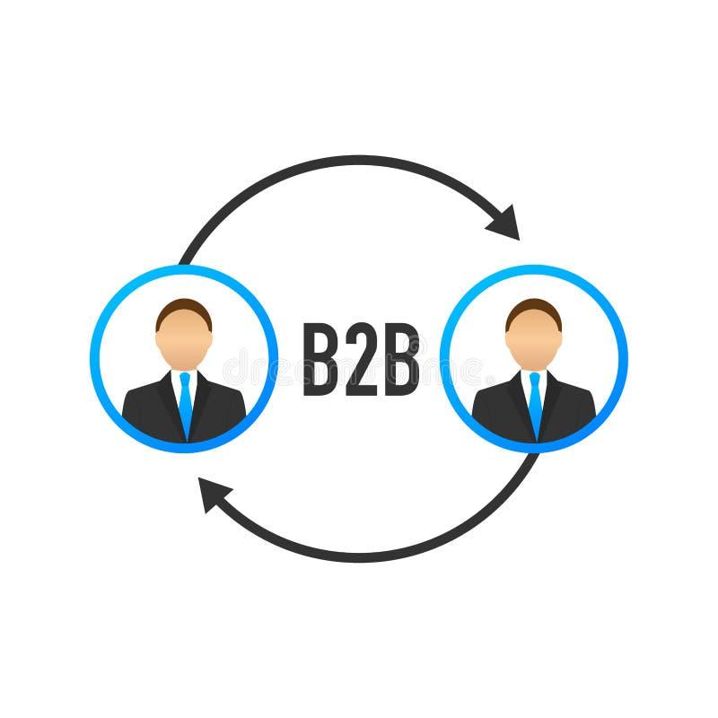 Человек продаж B2B продавая продукты продажи Дел-к-дела, метод продаж B2B r бесплатная иллюстрация