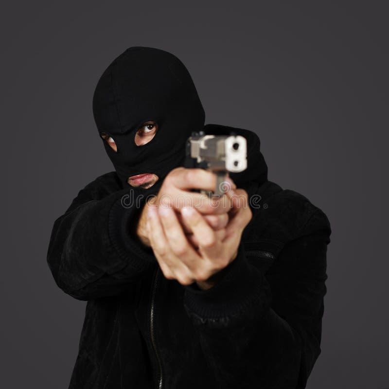 человек пушки стоковая фотография rf