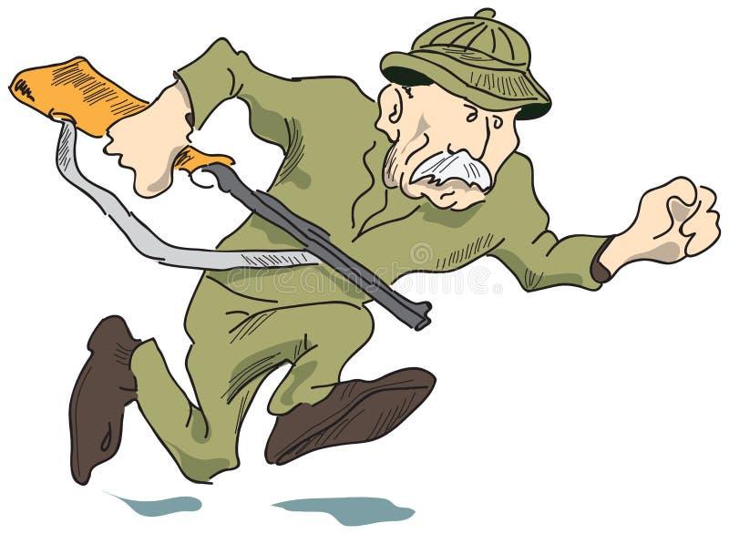 человек пушки иллюстрация штока