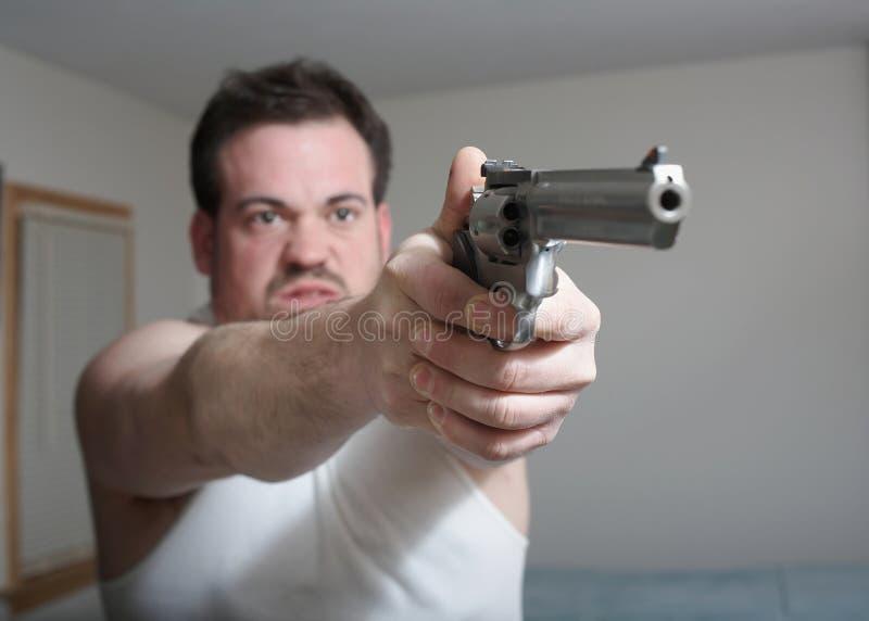 человек пушки стоковые изображения rf