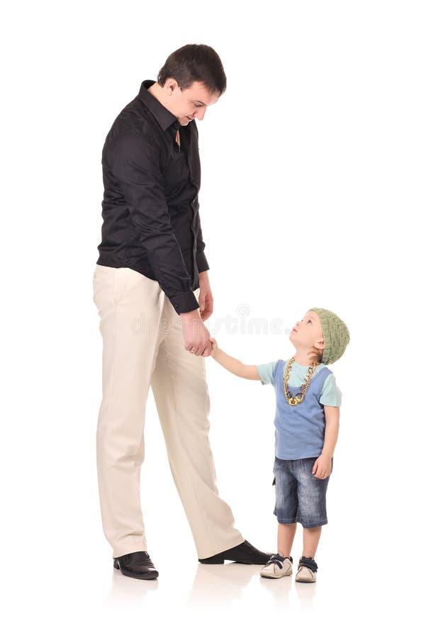человек рукопожатия мальчика стоковые фотографии rf