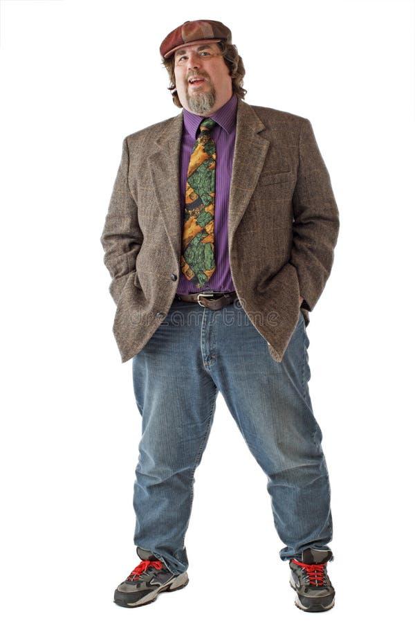 человек рук большой pockets стойки стоковое изображение rf