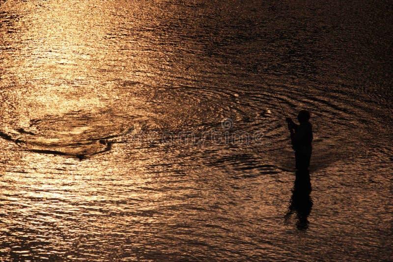 человек рыболовства стоковое изображение