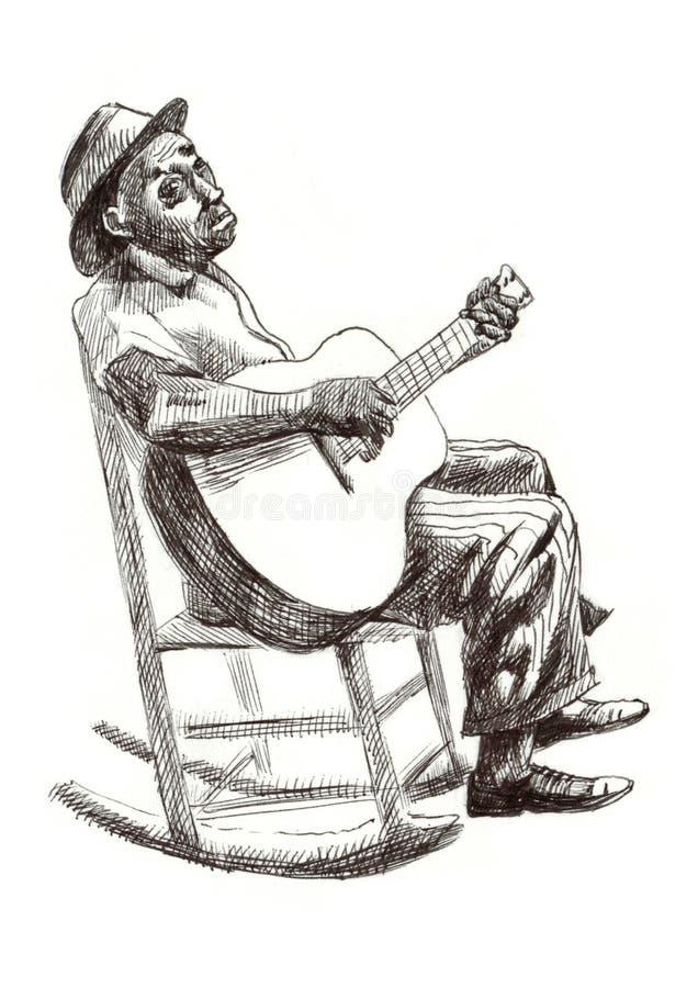 человек син иллюстрация штока