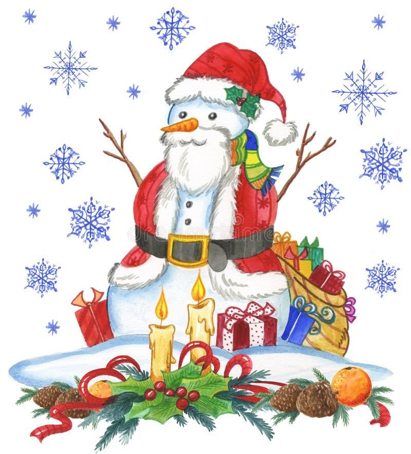 Человек снежка Santa Claus Стоковая Фотография
