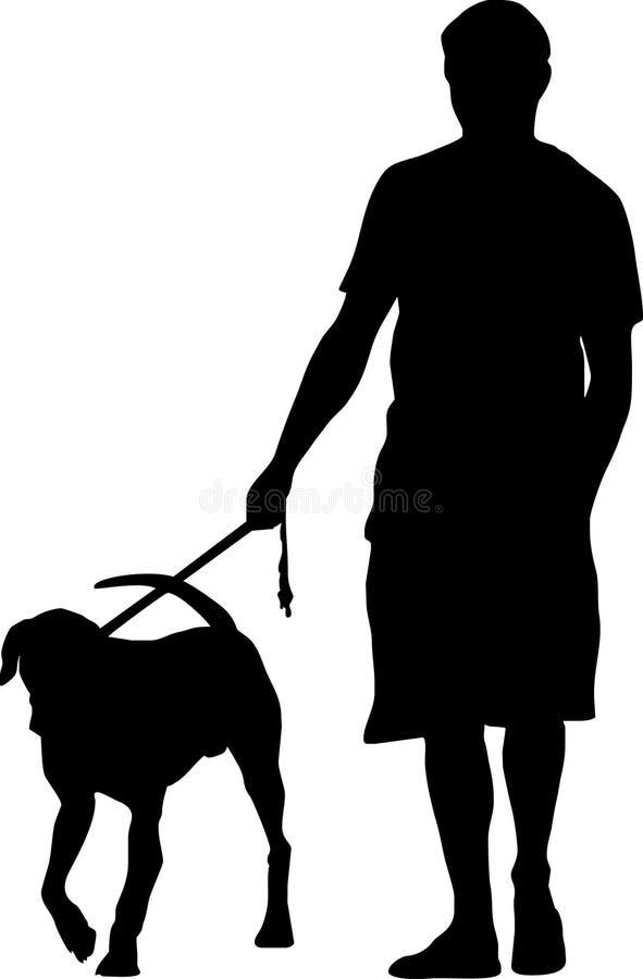 человек собаки иллюстрация вектора