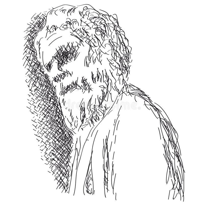 человек старый бесплатная иллюстрация