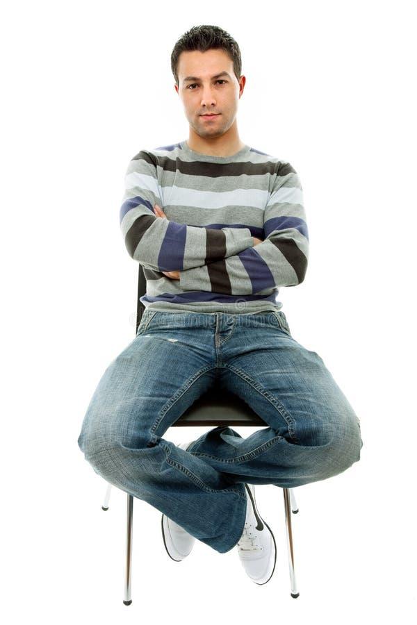 человек стула стоковое фото rf