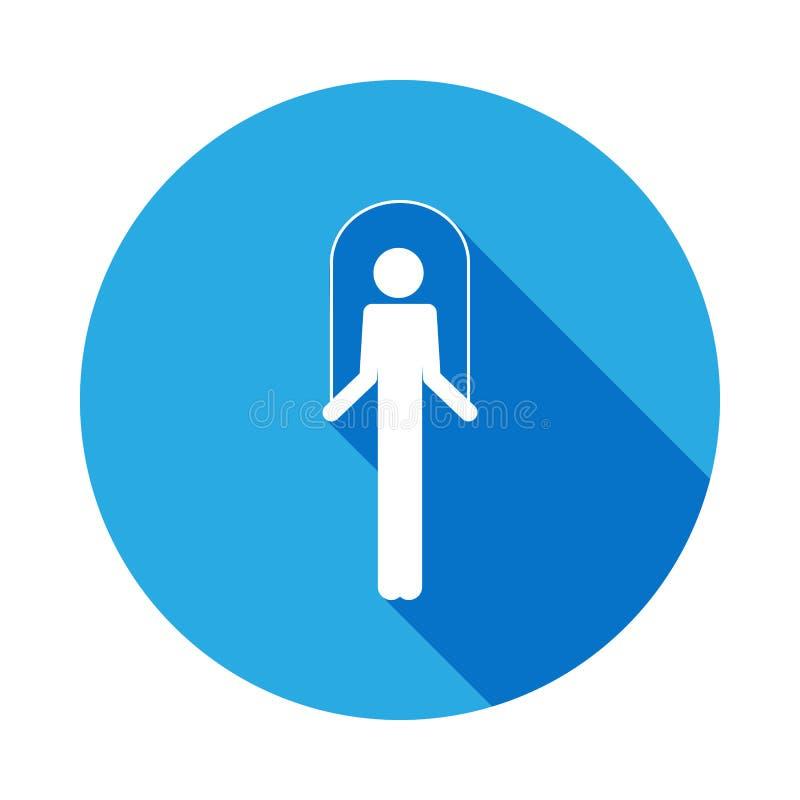 человек с значком шлямбура с длинной тенью Элемент значка спорта с длинной тенью Знаки и значок собрания символов для вебсайтов, иллюстрация штока