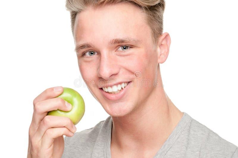 Человек с плодоовощами стоковое изображение rf