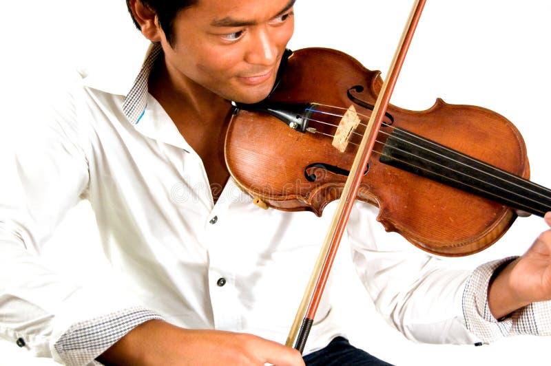Человек с скрипкой стоковое фото rf
